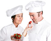 Chefs Fresh Strawberries — Stock Photo