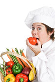 Hungry Chef — Stock Photo