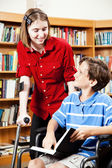 Library - Disabled Students — Stock Photo