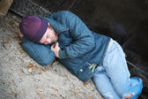 Homeless Cold and Alone — Stock Photo