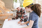 Vocational Training - Blueprints — Stock Photo
