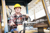 Heavy Equipment Driver — Stock Photo
