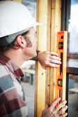 Construction Worker - Level — Stock Photo