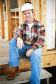 Construction Worker on Break — Stock Photo