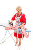 Ironing Full Body — Stock Photo