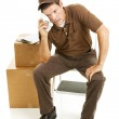 Tired Mover or Delivery Man — Stock Photo #6515744