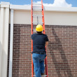 Construction Worker on Ladder — Stock Photo #6516745