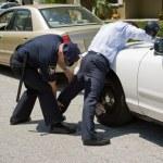 Police Pat Down — Stock Photo #6667872