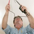 Electrician Testing Voltage — Stock Photo #6671160