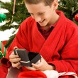 Opening Gifts on Christmas — Stock Photo #6684604
