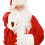 Santa Points at You — Stock Photo #6684616