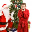 Surprised by Santa Claus — Stock Photo #6684646