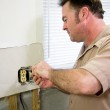 Electrician with Receptacle — Stock Photo #6684927