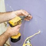 Installing Drywall Screws — Stock Photo #6717465