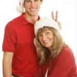 Christmas Portrait Goofing Around — Stock Photo #6717544