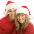Christmas Portrait - Mom and Son — Stock Photo #6717545