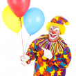 Clown Points at Balloons — Stock Photo #6802339