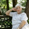 Senior Lady Relaxing in Park — Stock Photo #6806144