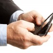 Male Hands Texting — Stock Photo #7293502