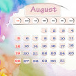 Calendar 2010, august on Water Color — Stock Photo #12308832