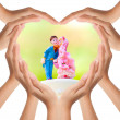 Hands make heart shape — Stock Photo #12820071