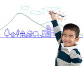 Kid ritning se — Stockfoto
