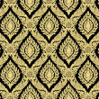 Golden and black thai art wall paper — Stock Photo