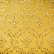 Stock Photo: Luxury seamless golden floral wallpape