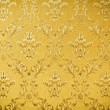 Luxury seamless golden floral wallpape - Stock Photo