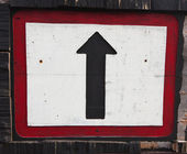 Wooden direction sign — Stock Photo