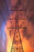 High voltage post — Stock Photo