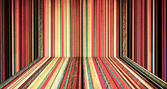 Chambre de couleur créative rayé — Photo