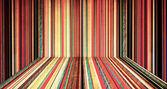 Creative color striped room — Stock Photo