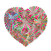 Colorful heart for valentine — Stock Photo