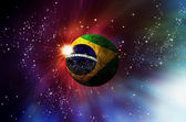 Brasil ball in galaxy, world cup 2014 — Foto de Stock