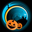 Halloween scary vector abstract background — Stock Vector
