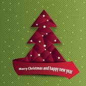 Astratto sfondo vettoriale con albero di Natale — Vettoriale Stock