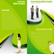 Vector green abstract background for brochure - Stok Vektör