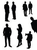 Vector set of manager silhouettes — Stock Vector