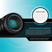 Vector photographic background with lens — Stock Vector