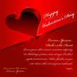 Valentine day card background with 3D red hearts — Stock Vector