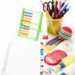 Stock Photo: Office and student accessories isolated over white background. B