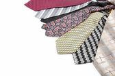 Corbatas de lujo aislados sobre fondo blanco. — Foto de Stock