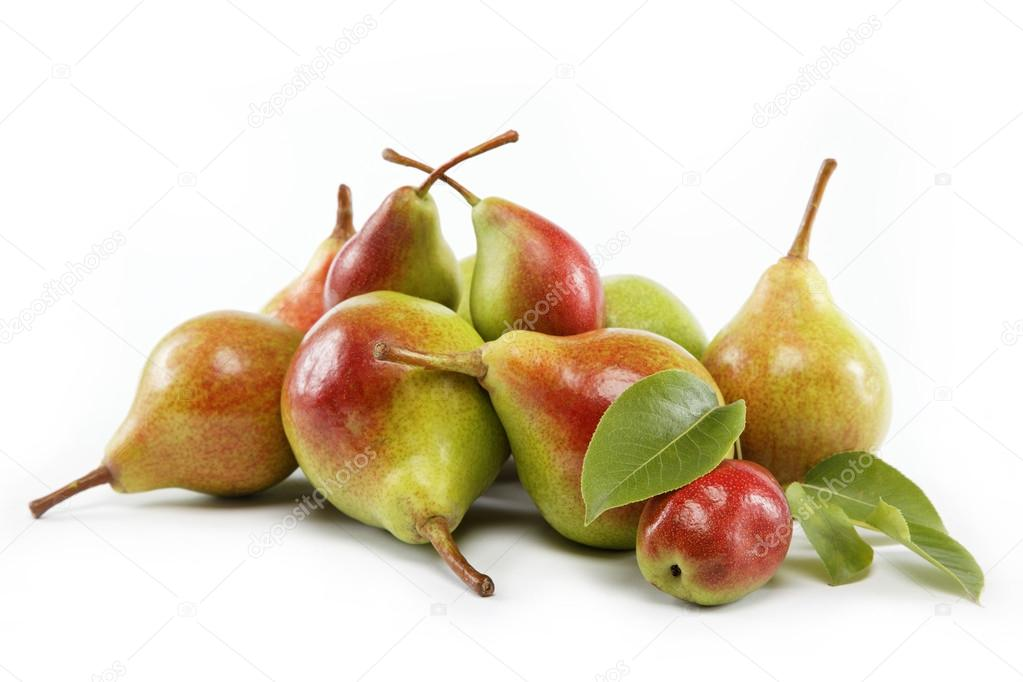 Ripe pears.Objects are isolated on a white background. — Stock Photo #12857490
