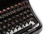 Tangentbordet på en vintage skrivmaskin i närbild — Stockfoto