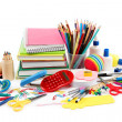 School and office supplies on white background. Back to school. — Stock Photo #14687439