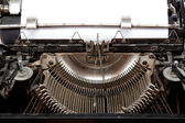 Old typewriter with a sheet of paper — Stock Photo