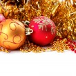 Christmas-tree decorations on a white background — Stock Photo #15370833