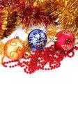 白い背景の上のクリスマスの装飾 — ストック写真