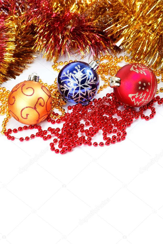 Christmas tree decorations on a white background  Stock Photo #16546109